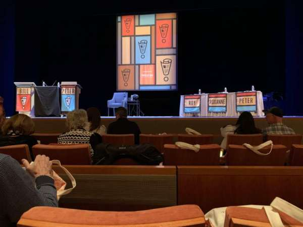 Eccles Theater, vak: Orchestra C, rij: B, stoel: 5
