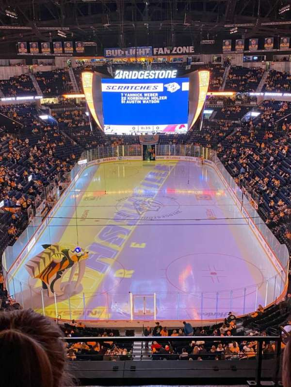 Bridgestone Arena, vak: 301, rij: C, stoel: 12