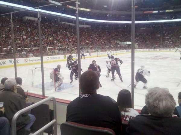 PNC Arena, vak: 110, rij: E, stoel: 3