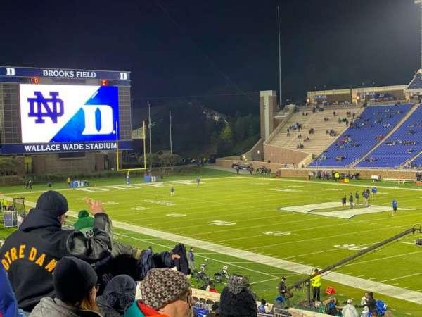 Wallace Wade Stadium, vak: 110, rij: AA, stoel: 1