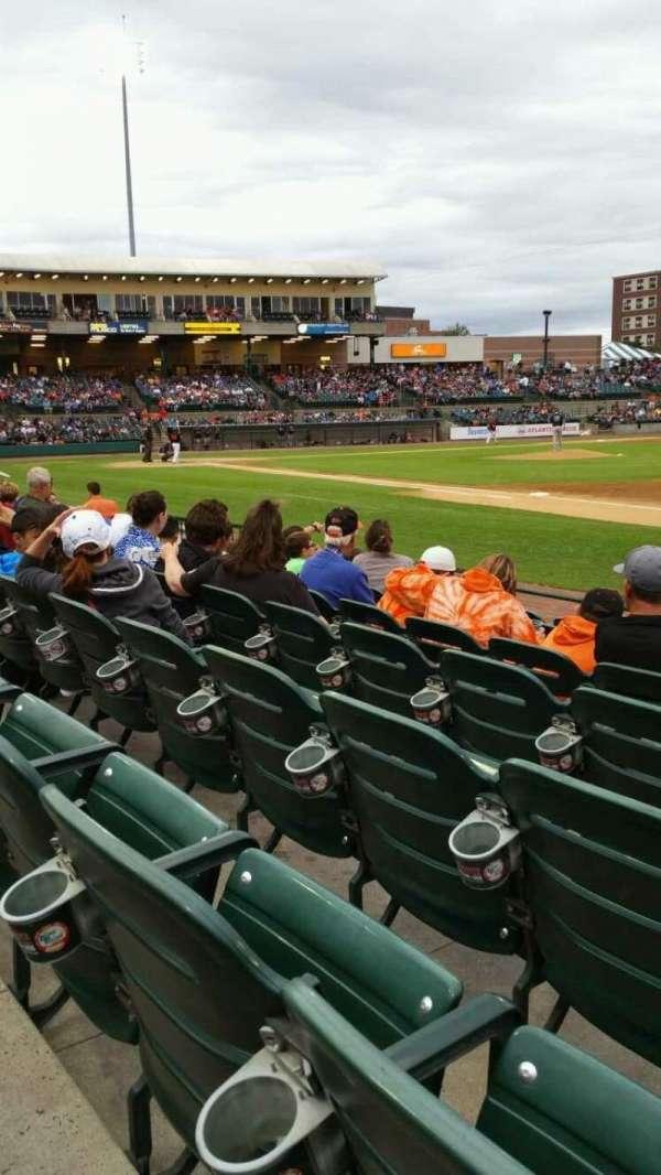 Bethpage Ballpark, vak: 112, rij: G, stoel: 7