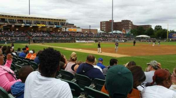 Bethpage Ballpark, vak: 112, rij: G, stoel: 1