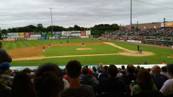 Bethpage Ballpark, vak: 205, rij: V, stoel: 17