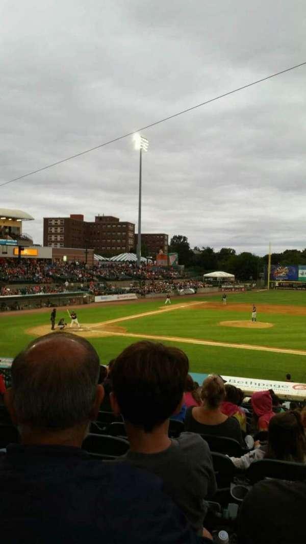 Bethpage Ballpark, vak: 208, rij: V, stoel: 13