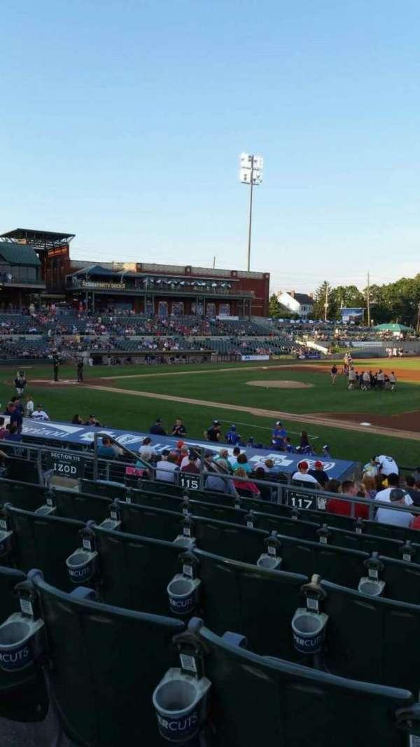 TD Bank Ballpark, vak: 215, rij: Q, stoel: 12