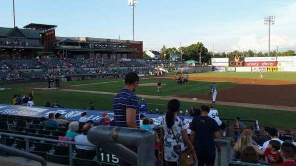 TD Bank Ballpark, vak: 215, rij: K, stoel: 18