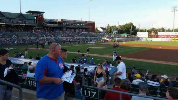 TD Bank Ballpark, vak: 215, rij: K, stoel: 15