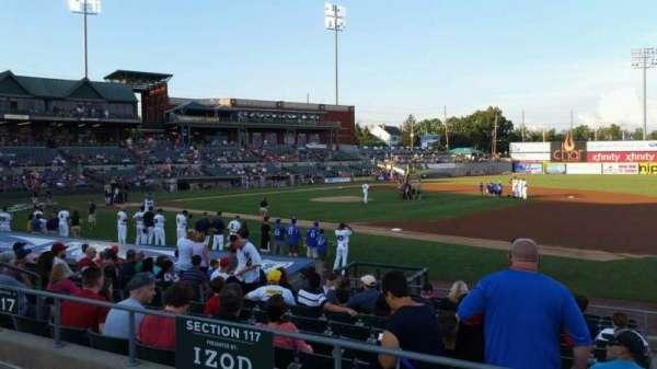 TD Bank Ballpark, vak: 215, rij: K, stoel: 8