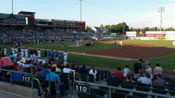 TD Bank Ballpark, vak: 215, rij: K, stoel: 1