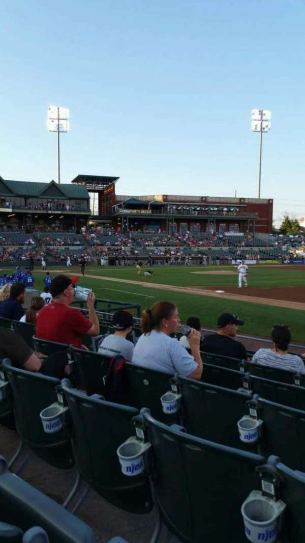 TD Bank Ballpark, vak: 119, rij: I, stoel: 4