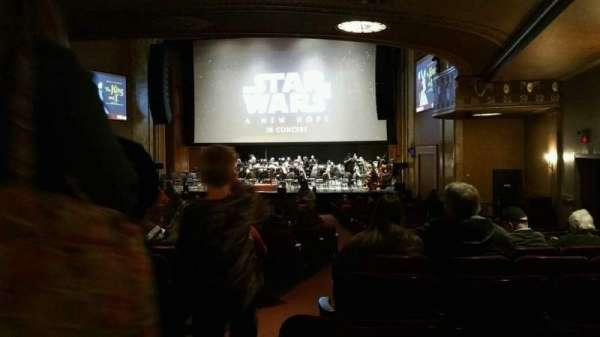State Theatre New Jersey, vak: Orchestra, rij: AA, stoel: 2