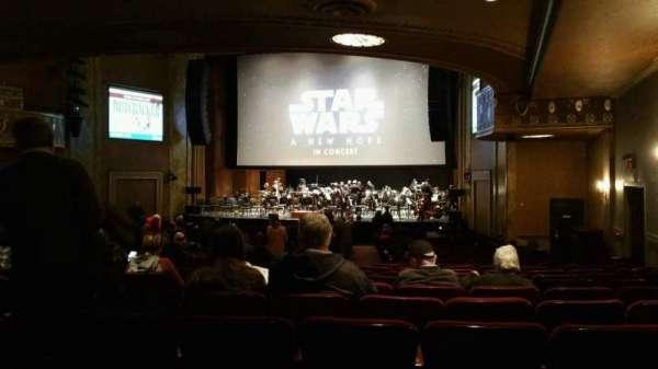 State Theatre New Jersey, vak: Orchestra, rij: AA, stoel: 8