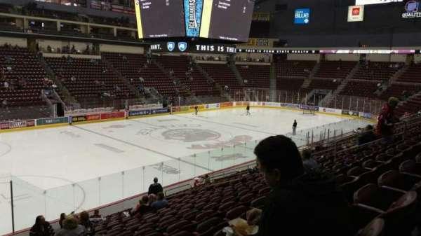 Giant Center, vak: 105, rij: S, stoel: 19