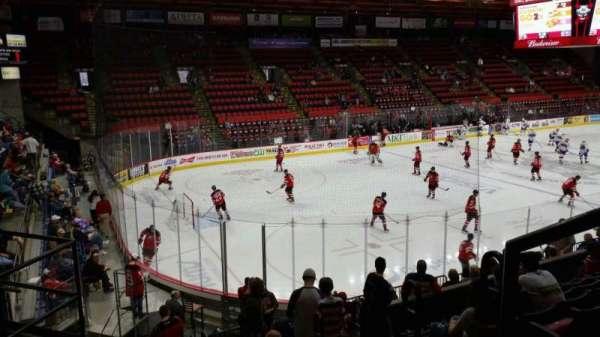 Floyd L. Maines Veterans Memorial Arena, vak: 5, rij: H, stoel: 1