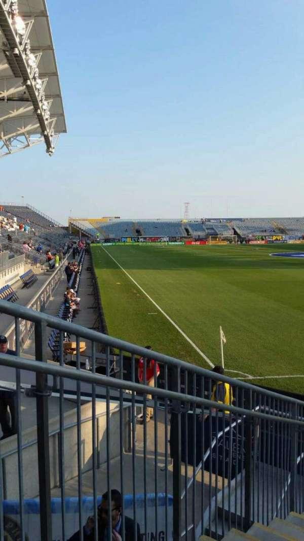 Talen Energy Stadium, vak: 120, rij: H, stoel: 18
