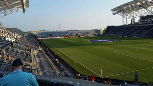 Talen Energy Stadium, vak: 121, rij: R, stoel: 1
