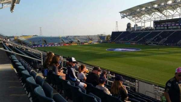 Talen Energy Stadium, vak: 122, rij: T, stoel: 10