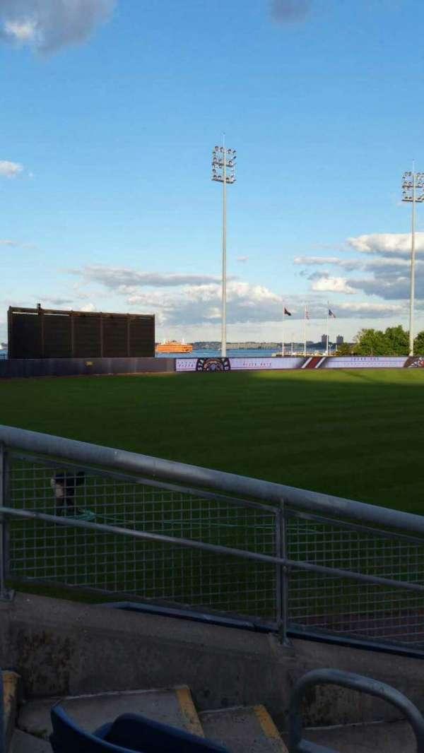 Richmond County Bank Ballpark, vak: 1, rij: J, stoel: 18