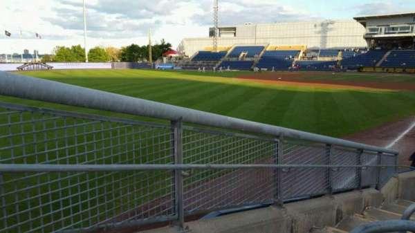 Richmond County Bank Ballpark, vak: 1, rij: J, stoel: 24