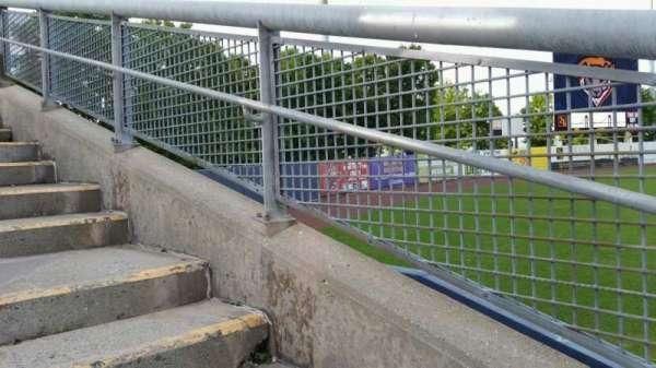 Richmond County Bank Ballpark, vak: 1, rij: F, stoel: 19