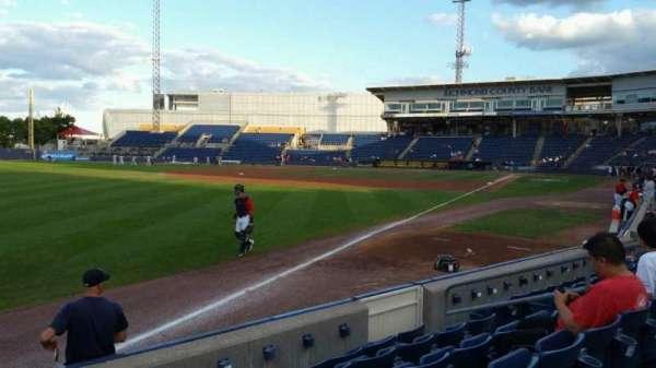 Richmond County Bank Ballpark, vak: 1, rij: F, stoel: 11