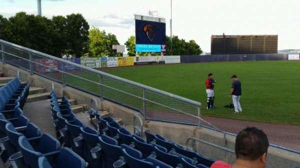 Richmond County Bank Ballpark, vak: 1, rij: F, stoel: 1