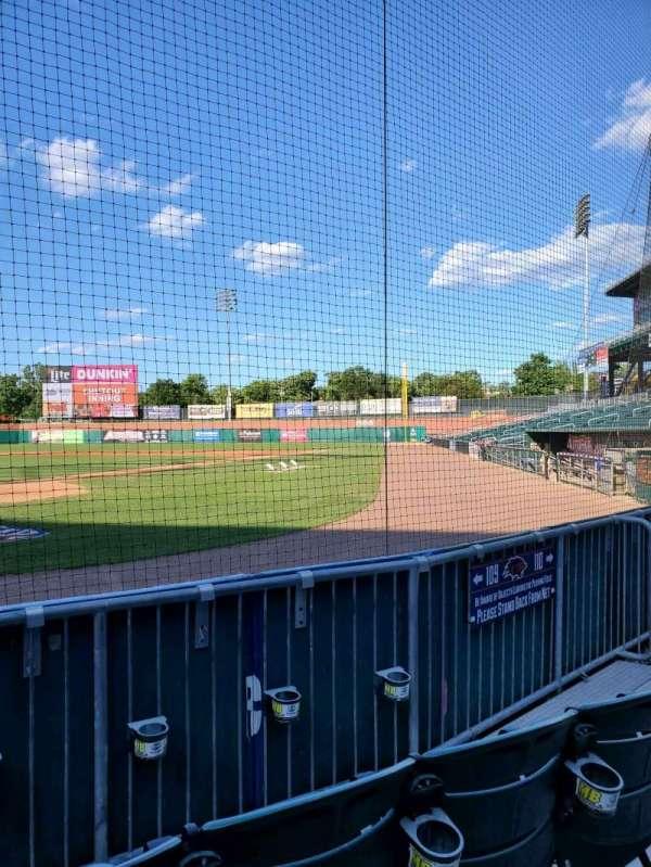 Northeast Delta Dental Stadium, vak: 109, rij: C, stoel: 5