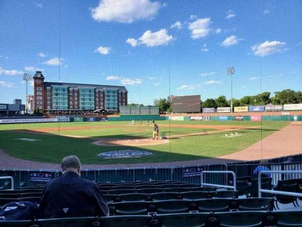 Northeast Delta Dental Stadium, vak: 109, rij: K, stoel: 6