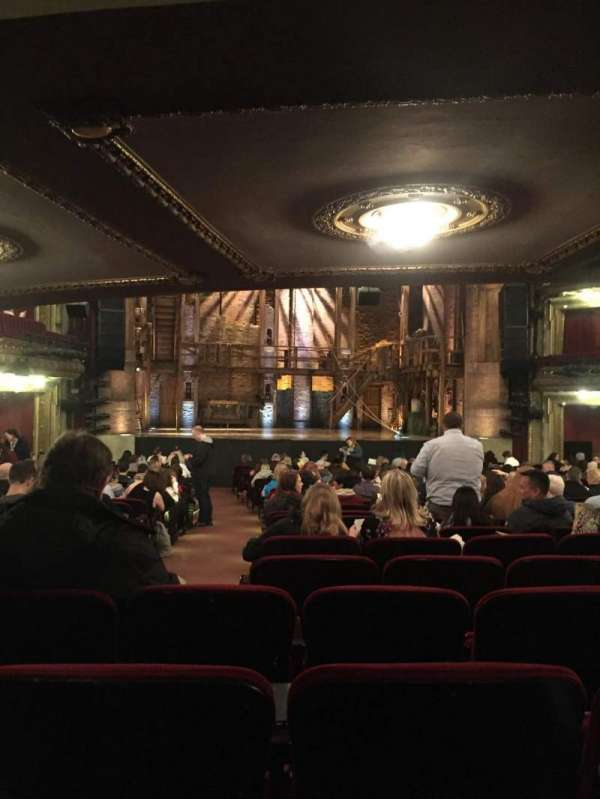 CIBC Theatre, vak: Orchestra Center, rij: Y, stoel: 103