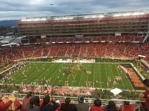 Levi's Stadium, vak: 410, rij: 6, stoel: 4