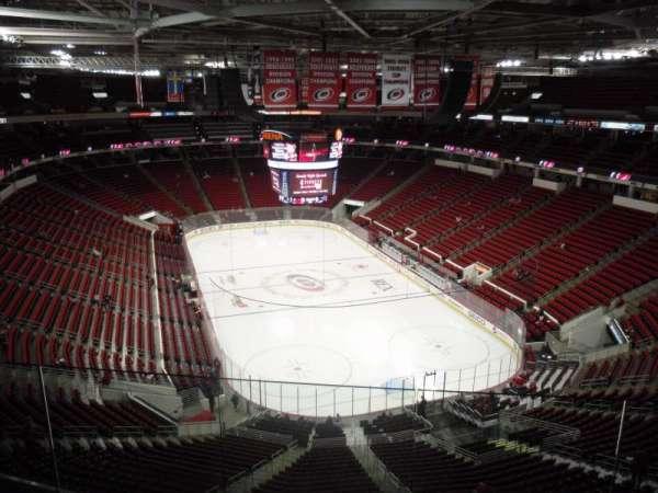 PNC Arena, vak: 316, rij: E, stoel: 5