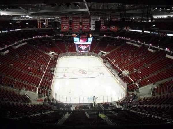 PNC Arena, vak: 316, rij: J, stoel: 1