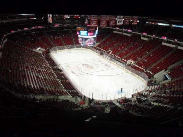 PNC Arena, vak: 317, rij: L, stoel: 9