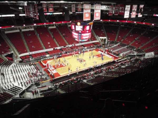 PNC Arena, vak: 307, rij: K, stoel: 4