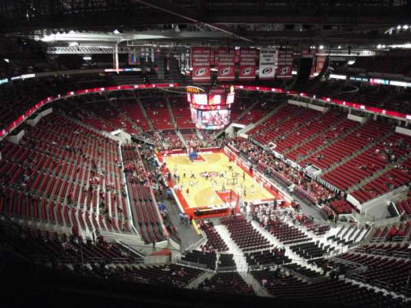 PNC Arena, vak: 316, rij: H, stoel: 7