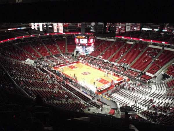 PNC Arena, vak: 319, rij: L, stoel: 7