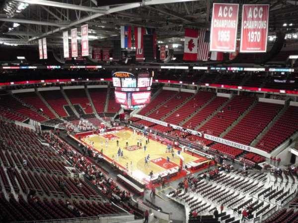 PNC Arena, vak: 336, rij: A, stoel: 19