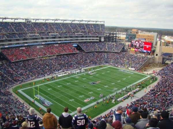 Gillette Stadium, vak: 317, rij: 23, stoel: 16