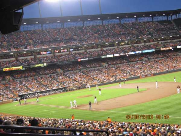 Oriole Park at Camden Yards, vak: 9, rij: 6, stoel: 14