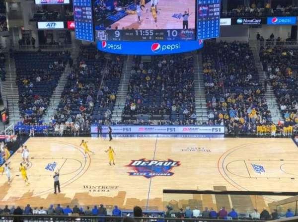 Wintrust Arena, vak: 225, rij: K, stoel: 4