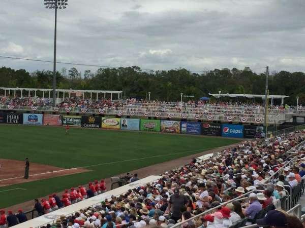 Hammond Stadium, vak: 207, rij: 7, stoel: 7
