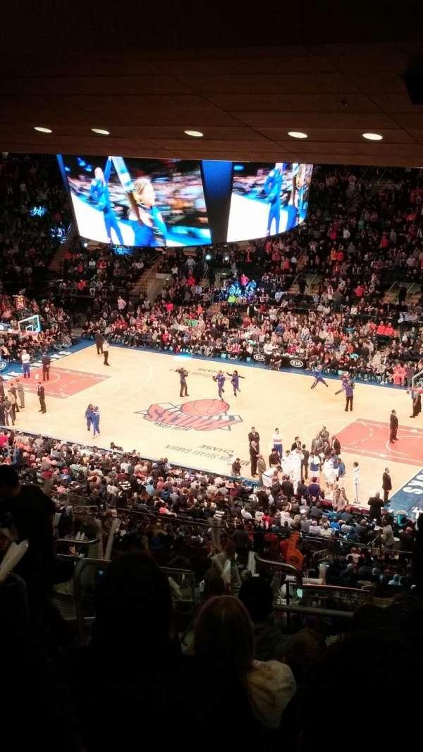 Madison Square Garden, vak: 214, rij: 18, stoel: 12