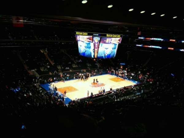 Madison Square Garden, vak: 208, rij: 13, stoel: 11