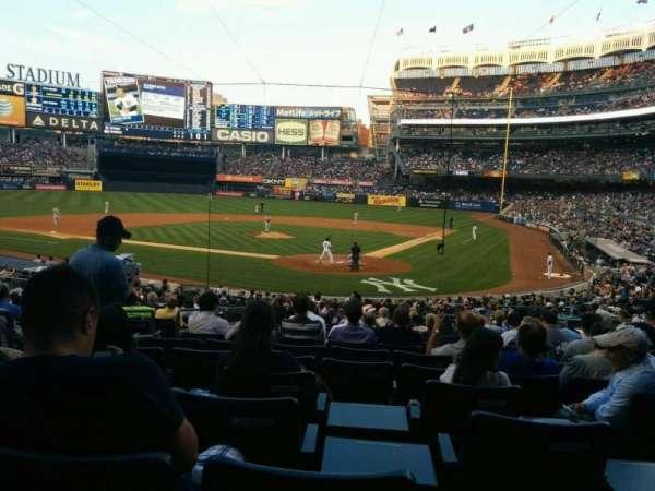 Yankee Stadium, vak: 121a, rij: 26, stoel: 8