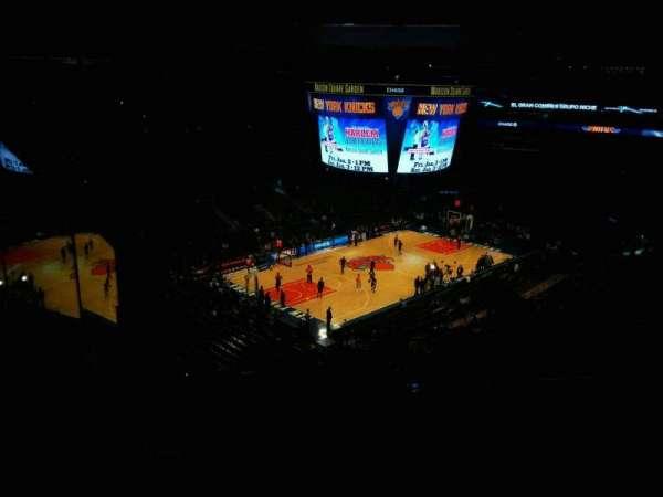 Madison Square Garden, vak: 220, rij: 13, stoel: 20