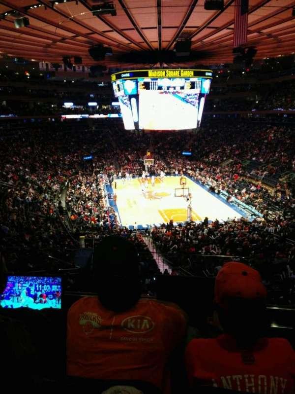 Madison Square Garden, vak: 217, rij: 3, stoel: 3