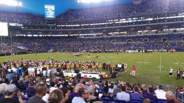 M&T Bank Stadium, vak: 152, rij: 18, stoel: 1