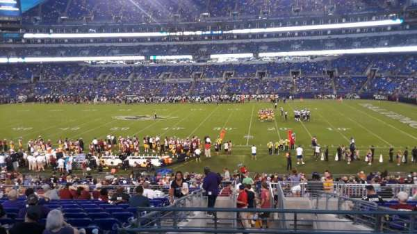 M&T Bank Stadium, vak: 152, rij: 32, stoel: 1