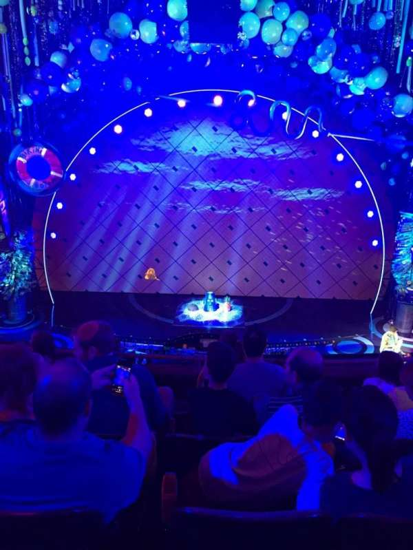 Palace Theatre (Broadway), vak: Front Mezz, rij: D, stoel: 107
