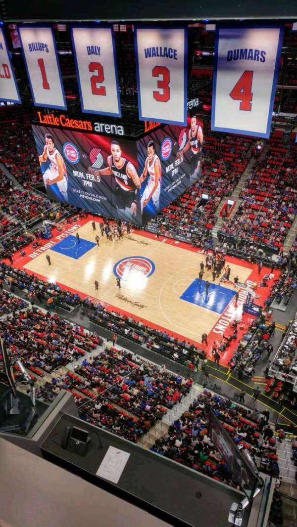 Little Caesars Arena, vak: GPB3, rij: 1, stoel: 27